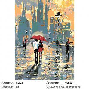 Количество цветов и сложность Теплый дождик Раскраска по номерам на холсте Живопись по номерам RO25