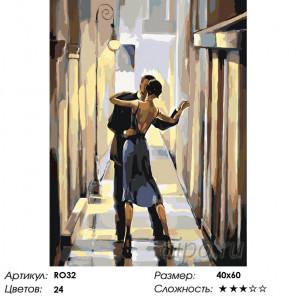 Танец в тишине Раскраска по номерам на холсте Живопись по номерам RO32