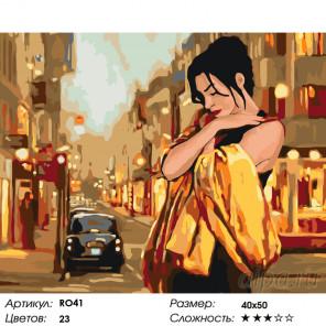 Количество цветов и сложность Прохладный вечер Раскраска по номерам на холсте Живопись по номерам RO41