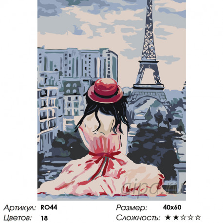 Количество цветов и сложность Воплощение мечты Раскраска по номерам на холсте Живопись по номерам RO44