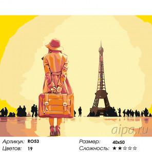 Встреча с Парижем Раскраска по номерам на холсте Живопись по номерам RO53