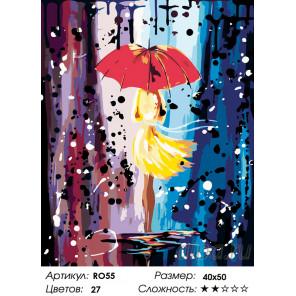 Количество цветов и сложность Холодный дождь Раскраска по номерам на холсте Живопись по номерам RO55