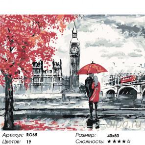Осень в Лондоне Раскраска по номерам на холсте Живопись по номерам RO65