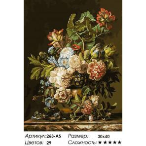 Количество цветов и сложность Летний дар Раскраска картина по номерам на холсте Белоснежка 263-AS