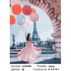 Париж желаний Раскраска по номерам на холсте GX25445