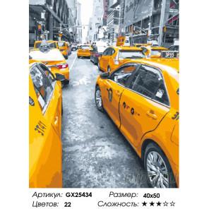 Количество цветов и сложность Быстрое такси Раскраска по номерам на холсте GX25434