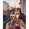 Любовь в париже Раскраска по номерам на холсте GX25427