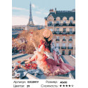 Количество цветов и сложность Красоты парижа Раскраска по номерам на холсте GX25419