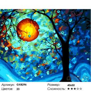 Количество цветов и сложность Лунная ночь Раскраска по номерам на холсте GX8296