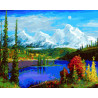Горный пейзаж Раскраска по номерам на холсте GX26145