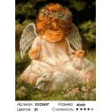 Количество цветов и сложность Ангел с кроликом Раскраска по номерам на холсте GX25607