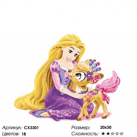 CX3301 Принцесса Рапунцель Раскраска по номерам на холсте ...
