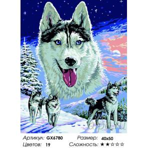 Количество цветов и сложность Зимняя охота Раскраска по номерам на холсте GX6780