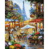 Цветочная улочка Парижа Раскраска по номерам на холсте GX25578