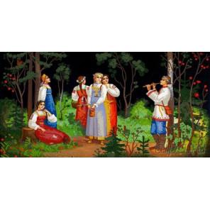 Сбор ягод Канва с рисунком для вышивки бисером Конек 8476