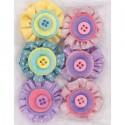 Spots & Stripes Pastels Цветы для скрапбукинга, кардмейкинга Docrafts