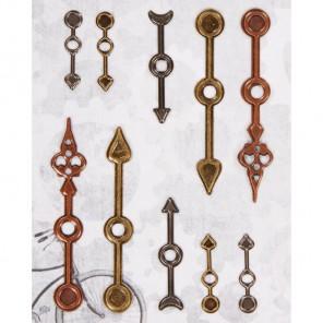 Стрелки часов Набор металлических элементов для скрапбукинга, кардмейкинга Docrafts