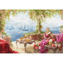 Утро на берегу моря Набор для вышивания Золотое Руно
