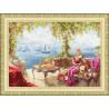 В рамке Утро на берегу моря Набор для вышивания Золотое Руно ЧМ-067
