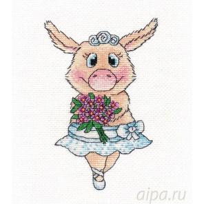 Свинка-балерина Набор для вышивания Овен 1138