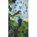 Часы с виноградом Набор для вышивания