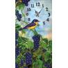 Часы с виноградом Набор для вышивания КВ712
