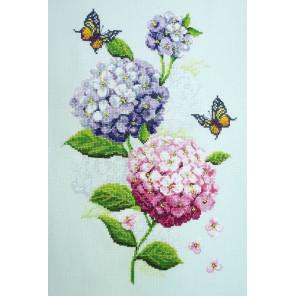 Соцветия гортензий Набор для вышивания Марья Искусница 04.004.13