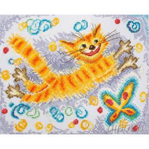 Солнечный кот Набор для вышивания Марья Искусница