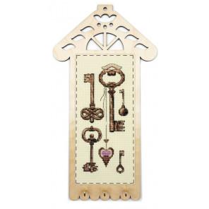 Ключики Набор для вышивания с рамкой Марья Искусница 22.002.01