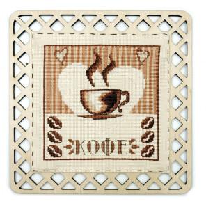 Кофейный стиль Набор для вышивания с рамкой Марья Искусница 22.002.02