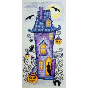 Мрачный домик Набор для вышивания Марья Искусница