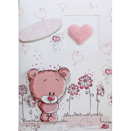 Мишка Набор для изготовления открытки LUCA-S (S)P-24