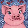 Раскладка Свинка Алмазная вышивка мозаика Гранни AG2297
