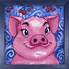 Собранная Свинка Алмазная вышивка мозаика Гранни AG2297