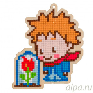 Принц и роза Алмазная мозаика подвеска Гранни Wood W0287