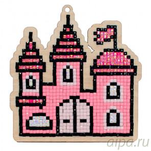 Замок принцессы Алмазная мозаика подвеска Гранни Wood W0162