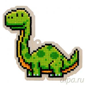 Динозавр Вега Алмазная мозаика подвеска Гранни Wood W0290