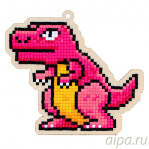 Динозавр Рекс Алмазная мозаика подвеска Гранни Wood W0292