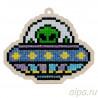 Инопланетный гость Алмазная мозаика подвеска Гранни Wood W0296