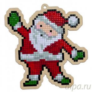 Санта Клаус Алмазная мозаика подвеска Гранни Wood W0309