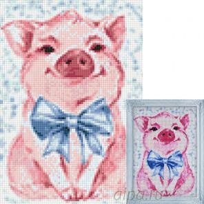 Милая свинка Алмазная вышивка мозаика Гранни AG2289