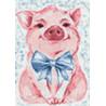 Раскладка Милая свинка Алмазная вышивка мозаика Гранни AG2289