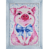 Собранная Милая свинка Алмазная вышивка мозаика Гранни AG2289