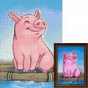 Свинка путешественница Алмазная вышивка мозаика Гранни AG2293