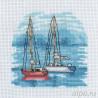 Красный парусник Набор для вышивания Permin 13-8118