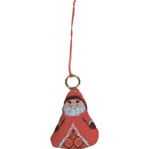 В рамке Дед Мороз Набор для вышивания ёлочного украшения Permin 01-8226