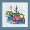 В рамке Два парусных судна Набор для вышивания Permin 13-8116