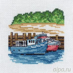 Синие моторные лодки Набор для вышивания Permin 13-8117