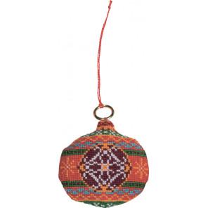 В рамке Мяч Набор для вышивания ёлочного украшения Permin 01-8229