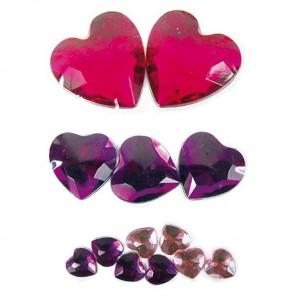 Сердца розовые 204 Стразы набор Decopatch